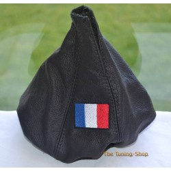 FIAT BRAVO MK2 RITMO GEAR GAITER BLACK LEATHER EMBROIDERY ITALIAN FLAG