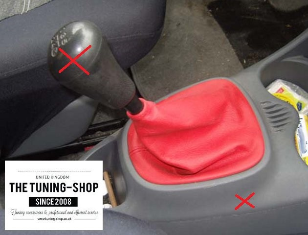 RED DOUBLE STITCHING FITS TOYOTA CELICA 1999-2006  LEATHER SHIFT BOOT