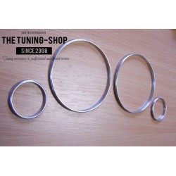 VOLVO S60 V70 S80 XC70 XC90 CHROME DIAL RINGS GAUGE TRIM SURROUNDS SET OF 4 NEW