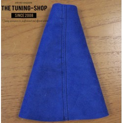 CITROEN SAXO 1996-2004 GEAR GAITER BLUE SUEDE EMBROIDERY SAXO VTS BLACK STITCHING