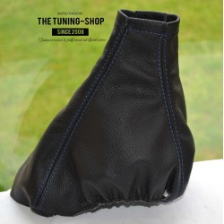 VAUXHALL OPEL OMEGA B  1994-1999 PRE-FACELIFT GEAR GAITER BLACK LEATHER WHITE STITCHING