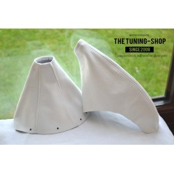 TOYOTA SUPRA MK4 1993-2002 HANDBRAKE GAITER WHITE LEATHER
