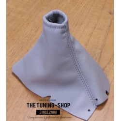 FOR VOLVO S60 2001-2007 HANDBRAKE GAITER GREY LEATHER