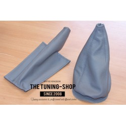 FOR MINI COOPER CLASSIC up to 2000 GEAR GAITER STEEL GREY LEATHER