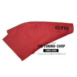 FOR Mitsubishi 3000 GT Z16A / GTO 1991-2000 HANDBRAKE GAITER RED LEATHER EMBROIDERY BLACK STITCHING