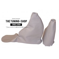 FOR ROVER 75 MANUAL 1999-2005 GEAR HANDBRAKE GAITER SANDSTONE LEATHER