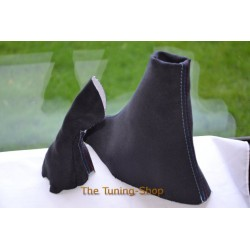 BMW 6 SERIES E63 E64 M6 04-10 SMG GEAR & HANDBRAKE GAITERS REPLACEMENT BOOTS BLACK SUEDE M3 STITCH