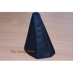 CITROEN XSARA PICASSO 1999-2010 GEAR GAITER BLACK GENUINE LEATHER BLUE STITCH NEW