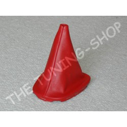 CITROEN C1 GEAR GAITER SHIFT BOOT RED GENUINE LEATHER NEW