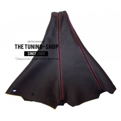 FOR PEUGEOT 406 COUPE MANUAL BLACK LEATHER GEAR GAITER WITH RED SITCHING