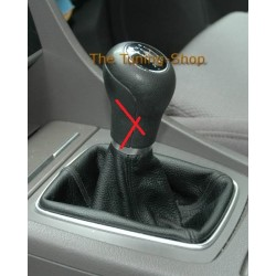 FOR AUDI A4 B6 01-04 GEAR GAITER SHIFT BOOT BLACK LEATHER