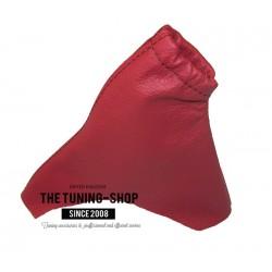 FOR HONDA CIVIC MKIX 2012-2015  HANDBRAKE GAITER RED LEATHER BLACK STITCHING