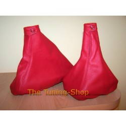 ALFA ROMEO 145/146 GEAR+HANDBRAKE GAITER SHIFT BOOT RED LEATHER
