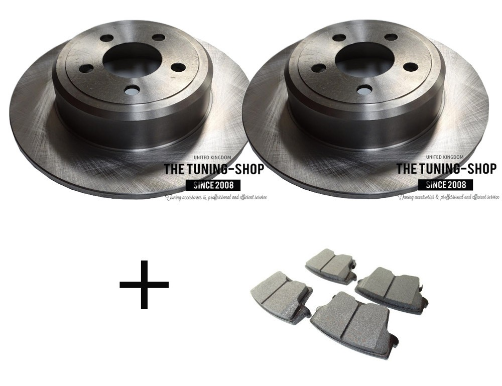 Rear Brake Calipers Rotors Pads For 300 300C Dodge Challenger Charger Magnum