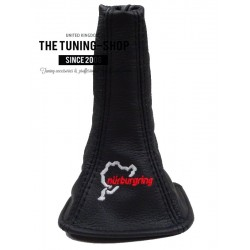 FOR TOYOTA MR2 MK3 00-07 GEAR GAITER BOOT LEATHER RED STITCH