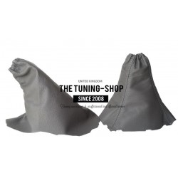 FOR VAUXHALL OPEL OMEGA C 99-03 GEAR+HANDBRAKE GAITER BLACK LEATHER