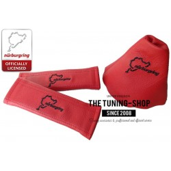 FOR AUDI TT 2006-2013 GEAR GAITER RED LEATHER NURBURGRING EMBROIDERY