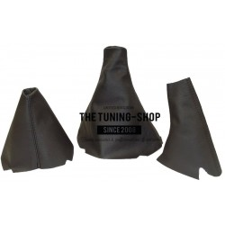 FOR LAND ROVER DISCOVERY 200TDI 300TDI TD5 V8 GEAR HI-LOW HANDBRAKE GAITER BLACK LEATHER