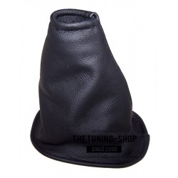FOR NISSAN MICRA K12 2003-2006 PRE-FACELIFT GEAR GAITER SHIFT BOOT BLACK GENUINE LEATHER NEW