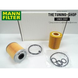 Premium Service Kit for Vauxhall Astra H 1.7 CDTI 110HP Diesel 03-09 Air Cabin Fuel Oil Filter Mann New