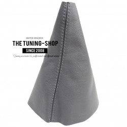 FOR VW TOURAN 03-09 GEAR GAITER SHIFT BOOT GREY LEATHER