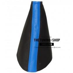 MAZDA MX-5 MK3 05-13 HANDBRAKE GAITER BLACK/DARK BLUE LEATHER