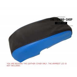 FOR FORD MONDEO MK3 2001-2006 ARMREST COVER BLACK & RED LEATHER WITH RED STITCHING