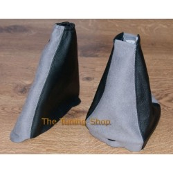 FORD FOCUS GAITERS / BOOTS BLACK LEATHER + GREY ALCANTARA 98-04