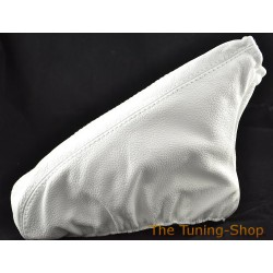 BMW E30 1982-1991 WHITE LEATHER HANDBRAKE GAITER WHITE STITCHING