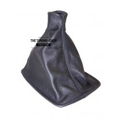 FOR HONDA PRELUDE 1988-1991 GEAR GAITER SHIFT BOOT BLACK LEATHER