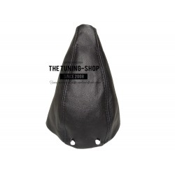 FOR  MERCEDES C-CLASS W202 1993-2000 6 SPEED MANUAL GEAR GAITER & GEAR KNOB COVER BLACK LEATHER