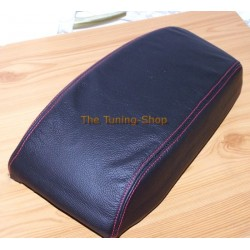 FORD MONDEO MK3 03-06 ARMREST COVER BLACK LEATHER & RED STITCH