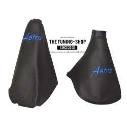 FOR VAUXHALL ASTRA MK6 J 2009-2015 GEAR & HANDBRAKE GAITER BLACK LEATHER RED ASTRA EMBROIDERY