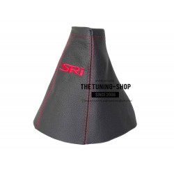 FOR VAUXHALL OPEL ZAFIRA A 99-05 GEAR GAITER BLACK LEATHER EMBROIDERY SRI red
