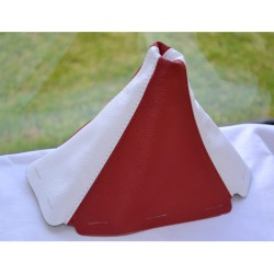 HONDA CIVIC 1992-1995 GEAR GAITER SHIFT BOOT RED&WHITE LEATHER NEW
