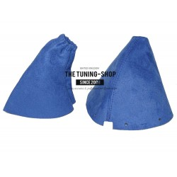 FOR NISSAN 350Z GEAR & HANDBRAKE GAITERS BLUE ALCANTARA BOOTS SET