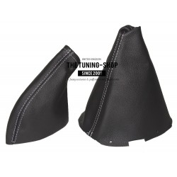 FOR NISSAN 200SX S14 SILVIA GEAR & HANDBRAKE GAITER BLACK STITCHING 2 PANELS
