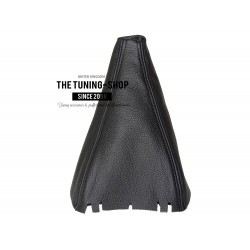 FOR SEAT LEON MK2 05-2011 GEAR GAITER SHIFT BOOT BLACK LEATHER NEW