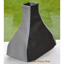VAUXHALL MERIVA A 2002-2010 BLACK + GREY LEATHER GEAR GAITER