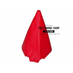 FOR CITROEN C1 TOYOTA AYGO PEUGEOT 107 facelift 09-14 GEAR GAITER SHIFT BOOT RED GENUINE LEATHER