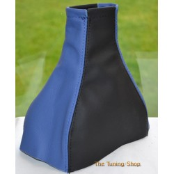 VAUXHALL MERIVA A 2002-2010 BLACK + BLUE LEATHER GEAR GAITER