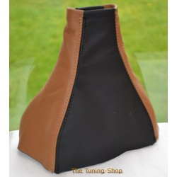 VAUXHALL MERIVA A 2002-2010 BLACK + BROWN LEATHER GEAR GAITER