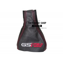 FOR VAUXHALL OPEL CORSA B TIGRA A GEAR GAITER EMBROIDERY GSi 16V RED STITCH NEW