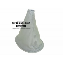 FOR TOYOTA YARIS 99-03 GEAR GAITER SHIFT BOOT MID GREY LEATHER