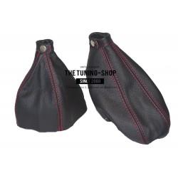 FOR ALFA ROMEO 166 GEAR HANDBRAKE GAITER BLACK LEATHER NEW