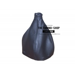 FOR ALFA ROMEO 166 GEAR GAITER SHIFT BOOT BLACK LEATHER NEW