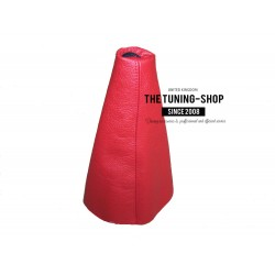 FOR CITROEN SAXO VTS VTR 1996-2003 GEAR GAITER RED LEATHER