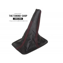FOR  TOYOTA CELICA 94-98 GEAR GAITER LEATHER RED STITCHING