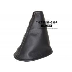 FOR NISSAN MICRA K12 C+C 2003-2006 PRE-FACELIFT GEAR GAITER SHIFT BOOT BLACK GENUINE LEATHER NEW