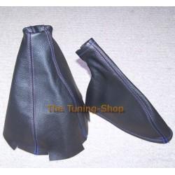 HONDA PRELUDE 1997-2001 GEAR& HANDBRAKE GAITER BOOT BLUE STITCHING